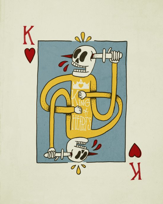 King of Hearts Canvas Print