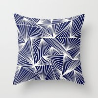 TriangleAngle (Navy) Throw Pillow
