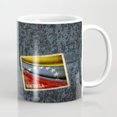 Grunge sticker of Venezuela flag Mug
