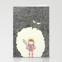 Strong Warrior Stationery Cards
