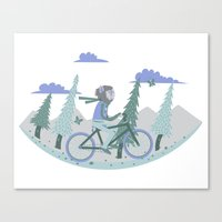 Werewolf Goes For A Ride Canvas Print