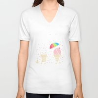 Cloudy With A Chance Of … Unisex V-Neck