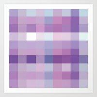 Pixelate Lavender Art Print
