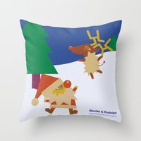 Nicolas&Rudolph Throw Pillow