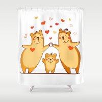 Family of bears Shower Curtain