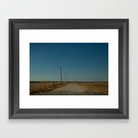 Road To The Bridge To No… Framed Art Print