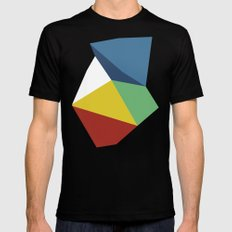 Abstraction Zoom Black Mens Fitted Tee SMALL