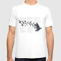 Vintage Style Print With… Mens Fitted Tee White SMALL