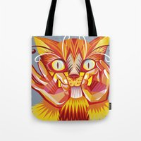Cat Signs Whiskers Tote Bag