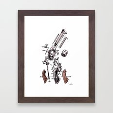 Exploded Gun Framed Art Print