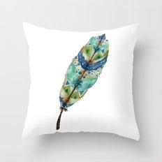 Seaside Feather Throw Pillow