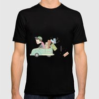 vacation Mens Fitted Tee Black SMALL
