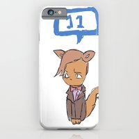 iPhone & iPod Case featuring Doctor Meow (11th Doctor) by Mia Resella