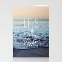 Let's Run Away x Arcadia Beach Stationery Cards