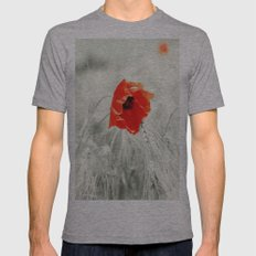 Poppy Mens Fitted Tee Athletic Grey SMALL