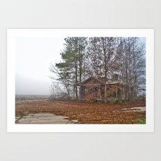 Hidden Home on a Foggy Day 2 Art Print