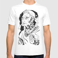 Psychobilly Mens Fitted Tee White SMALL