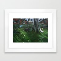 in the meadow Framed Art Print