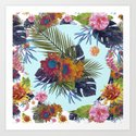 TROPICAL FLORAL Art Print