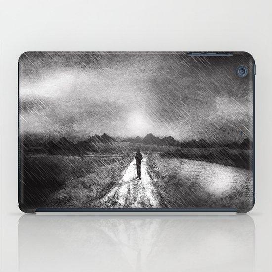 it's raining again (b&w) iPad Case