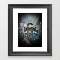 Pyramid skulls Framed Art Print