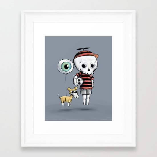 Skull Kid Framed Art Print