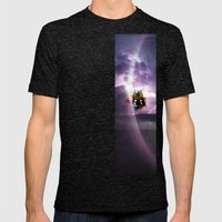 Super Bears - ACTION! the Mighty One Mens Fitted Tee Tri-Black SMALL