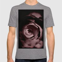 RED ROSE Mens Fitted Tee Tri-Grey SMALL