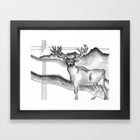 Blue Ridge Deer Framed Art Print