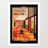 Hepburn Eames Art Print