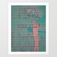 Doll (Spearmint) Art Print