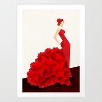 The Dancer (Flamenco) Art Print