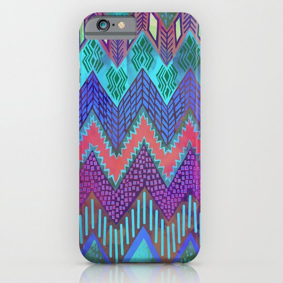 Tribal Chevron - Aqua iPhone & iPod Case