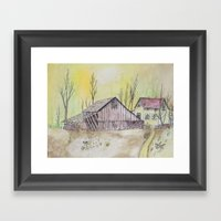 The Old Home Place Framed Art Print