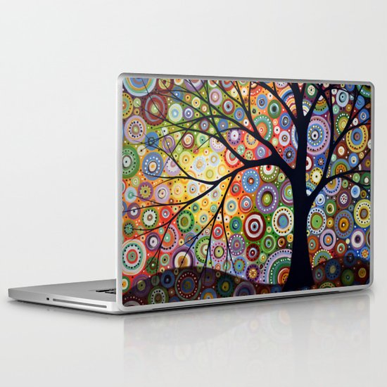 Abstract Landscape Original Painting...VISIONS OF NIGHT, by Amy Giacomelli Laptop & iPad Skin