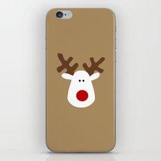 Christmas Reindeer-Brown iPhone & iPod Skin