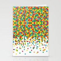 Pixel Chaos Stationery Cards