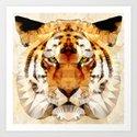 abstract tiger Art Print