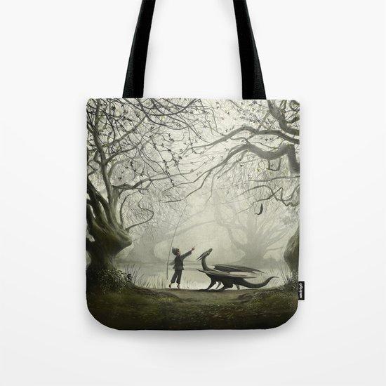 The Boy And His Dragon Tote Bag
