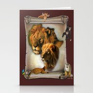 The Lion King From Afric… Stationery Cards