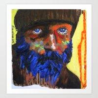 Le fauve bleu Art Print