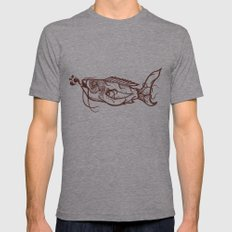 Chinese Fish Mens Fitted Tee Athletic Grey SMALL