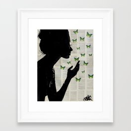 Framed Art Print - SIMPLICITY (Green) - LouiJoverArt
