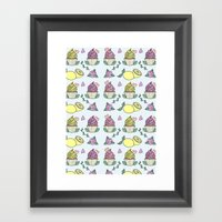 Time For Cupcakes! Framed Art Print