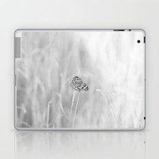 Junonia coenia, Common Buckeye Butterfly Black and White Laptop & iPad Skin
