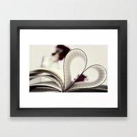 Paper  Heart ♥ Framed Art Print