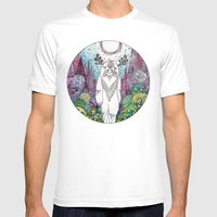Forest Spirit Mens Fitted Tee White SMALL