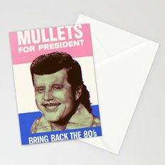Mullets for president Stationery Cards