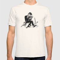 Hamlet Mens Fitted Tee Natural SMALL