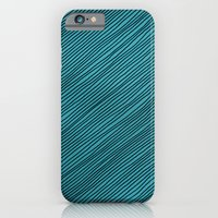 iPhone & iPod Case featuring Stripes - turchese by C I M B A
